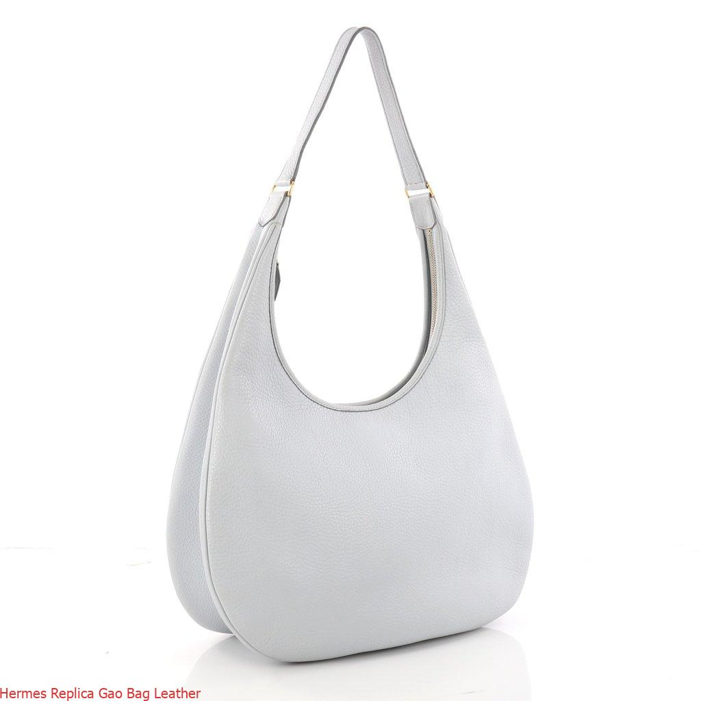 41c235f3461 Hermes Replica Gao Bag Leather