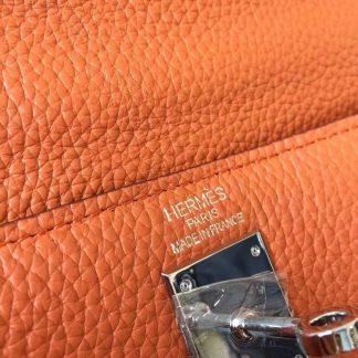 f3809564709 Real Hermes Orange Clemence Kelly 28cm Bag Lubbock, TX – hermes replica  kelly real vs fake – 1833 ...